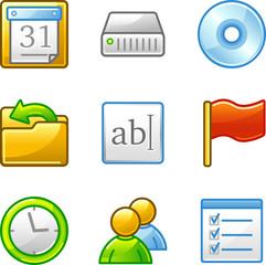 Administration web icons, alfa series
