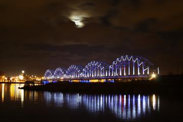 Moon bridge and river
