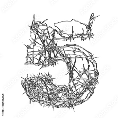 barbed wire font. Barbed wire font 5