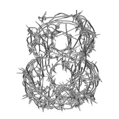 Barbed wire font 8
