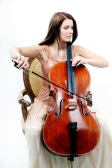 Frau am Cello