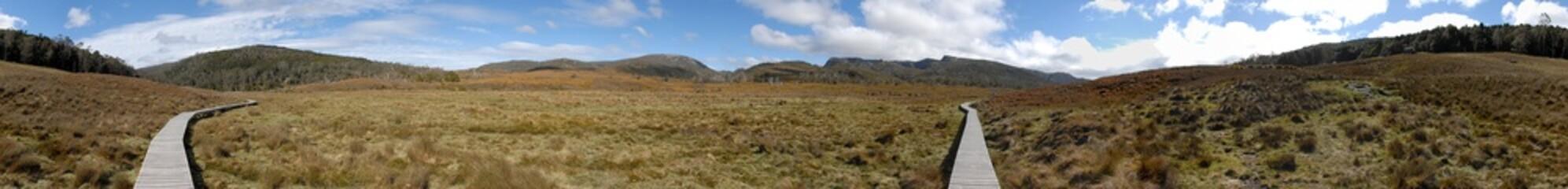 Panorama dans le Craddle Mountain National Park en Tasmanie