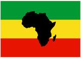 Drapeau Rasta avec Carte de l'Afrique