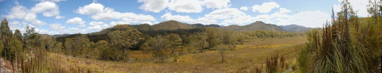 Panorama de montagne en Tasmanie