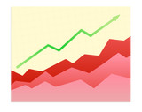 Shiny  graph of success trend poster
