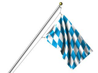 Isolated Bavarian Flag