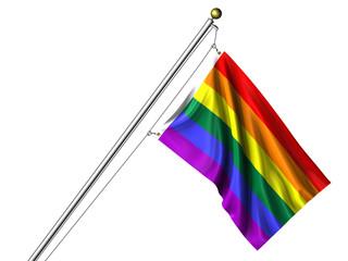 Isolated Rainbow Flag