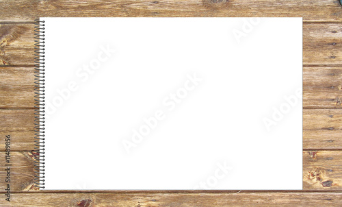 Cuaderno de Dibujo y Pintura sobre tablero de madera