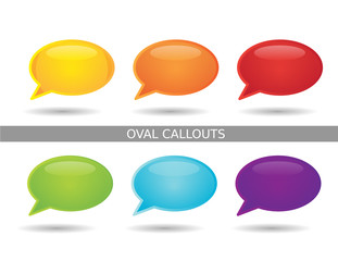 Presentation Oval Callout Icons