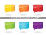 Presentation Rounded Rectangle Callout Icons poster