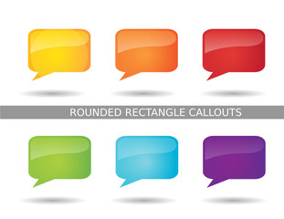 Presentation Rounded Rectangle Callout Icons