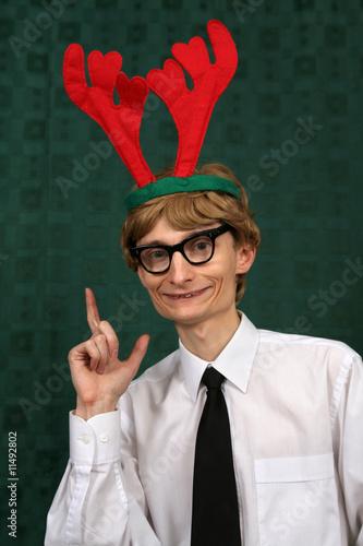 Cute Christmas nerd