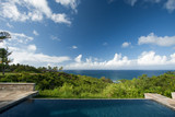 Breathtaking Hawaiian Ocean View Deck and Pool poster