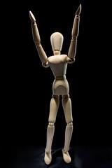 human figure - arms up