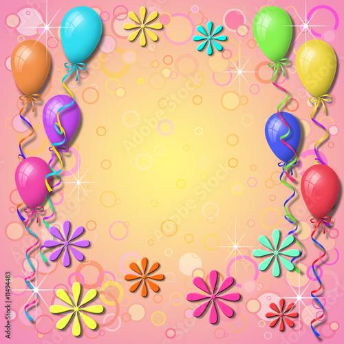 birthday balloons background. Balloon Background