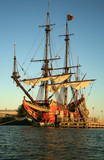 Batavia alte Schiff in den Niederlanden.