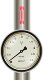 Vector gas manometer with pipe