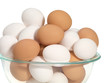 Bowl of Brown and White Eggs