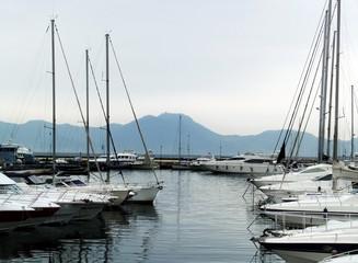 yacht dock Naples Italy