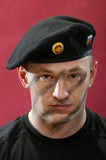 The military man in a beret