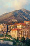 Greek village from Mani peninsula poster
