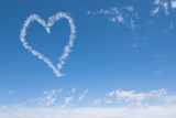 heart shaped cloud poster