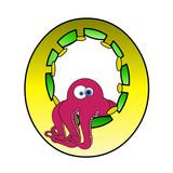 ABC - Letter O - A Octopuss - elszigetelt fehér