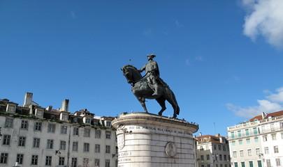 Statue équestre de Joao 1er, Roi du Portugal, Lisbonne.