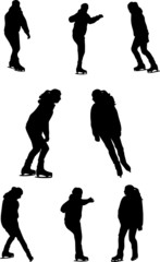 Vector illustrations of skating