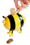 bee moneybox poster