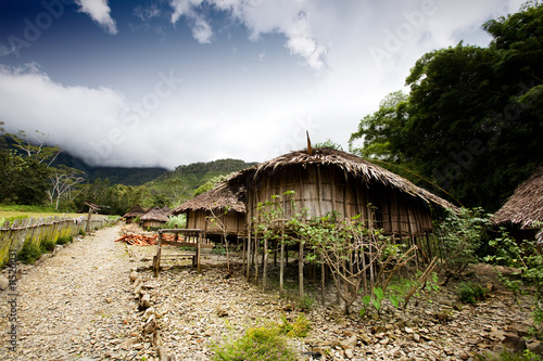 Foto op Plexiglas Indonesië Village Hut