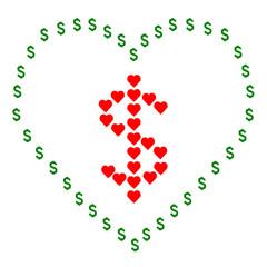 vector of love money