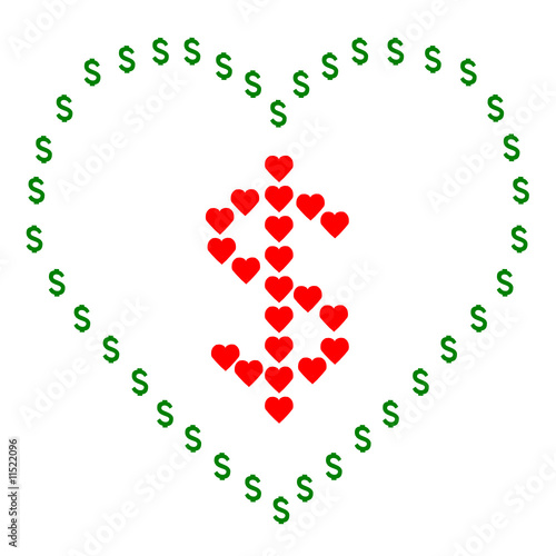 vector of love money