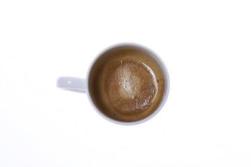 Chávena de café em fundo branco