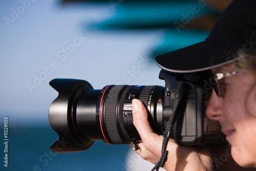 Woman with Pro Camera
