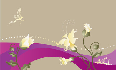 fairy-tale floral background