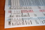 Federal Income Tax forms poster