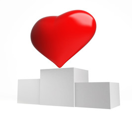 heart winner on a white background