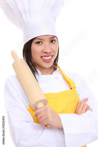 Woman Chef with Rolling Pin