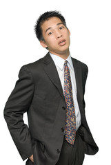 Young Asian businessman portrait