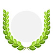 Vector green laurel wreath