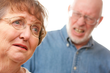 Angry Senior Couple in an Argument