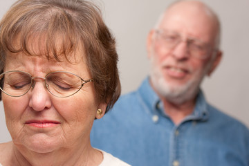 Upset Senior Couple in an Argument