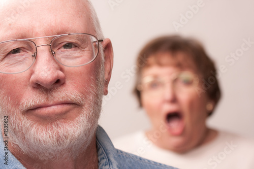 Yelling Senior Couple in an Argument
