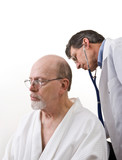 Doctor Examining Senior Male Patient poster