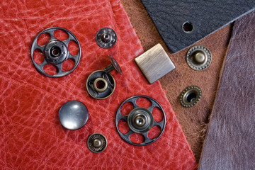 leather and buttons