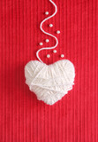 Heart of Knitting - Valentine's card