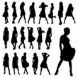 Beautiful girl silhouettes