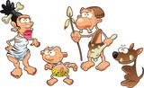 Prehistoric family poster