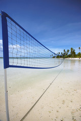 Beach Volley Ball net, French Polynesia